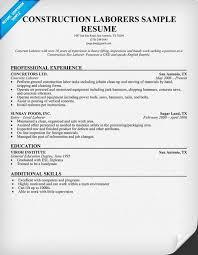 Sample Resume For Overnight Stocker by Resume For Laborer In Construction Http Topresume Info Resume