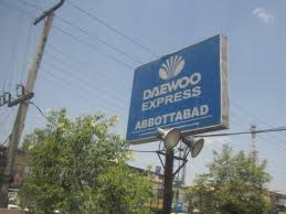 daewoo list of daewoo ticket price fare from abbottabad u0026 contact