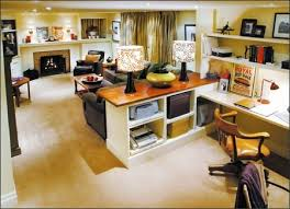 Divine Design Pine Paneling Is First To Go In Rec Room Office - Family room office