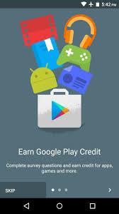 how to earn free google play credits on android by filling out
