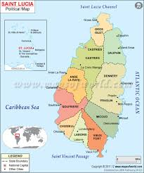 Map Of South America And Caribbean by Where Is Saint Lucia Location Map Of Saint Lucia