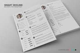 resume paper white or ivory incredible single page resume resume templates on creative market smart resume cv set