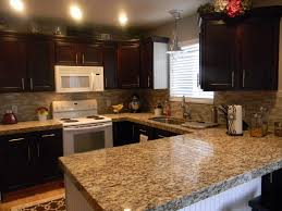 decor omicron granite countertop with peel and stick tile omicron granite countertop with peel and stick tile backsplash and black kitchen cabinets plus ceiling lights for traditional kitchen design and peel and
