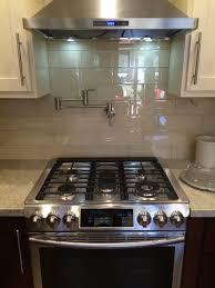 glass tiles for kitchen backsplashes cream glass 4