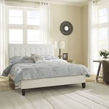 Best  Leather Platform Bed Ideas On Pinterest Low Beds - White tufted leather bedroom set