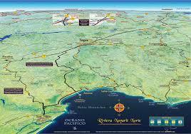 Google Maps Time Zones by Mapa Jeff Cartography Riviera Nayarit Road Map