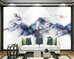 online buy wholesale birds painting wall mural from china birds beibehang custom wallpaper new chinese simple oil painting ink rhyme landscape bird tv sofa background wall mural 3d wallpaper