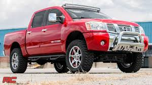 nissan titan ground clearance 2004 2015 nissan titan 4 inch suspension lift kit by rough country