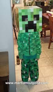 Halloween Minecraft Costume Create Minecraft Creeper Costume Martian Outpost