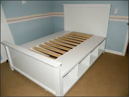 bedroom queen storage bed with bookcase headboard king bed with