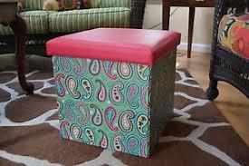 simply southern paisley pattern folding storage ottoman ebay
