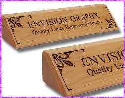 Custom Desk Name Plates by Personalized Custom Engraved Alder Wood Classic Desk Name