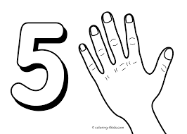 number 5 coloring page getcoloringpages com