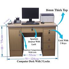 computer desk in beech with 3 locks 4 home office table