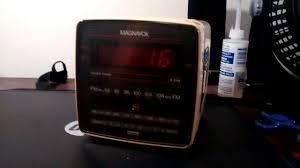 Jcpenney Clocks Magnavox Clock Radio Model D3110 Youtube