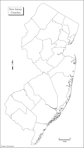 Map Nj New Jersey Blank Outline Maps