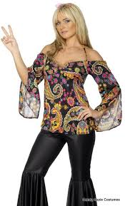 Flower Power Halloween Costume 60 U0027s Paisley Black Bell Bottoms 60 U0027s Costumes