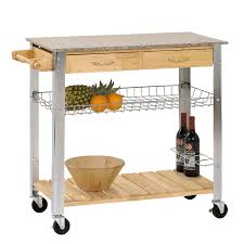 Marble Top Kitchen Island Cart by New Kitchen Trolley Rolling Cart Wood Steel Legs 2 Storage Drawer