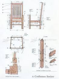 chair furniture blueprints rockingair wood plans uncategorized