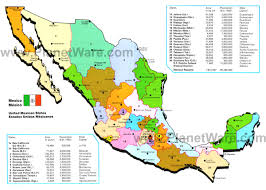 Map Of Juarez Mexico by Map Of Mexico Mexican States Planetware