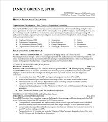 Senior Hr Manager Resume Sample by Executive Resume Template 12 Free Word Excel Pdf Format