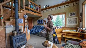 Tiny Cabin Off The Grid In Alaska Tiny Home Cabin Interior Tour Youtube