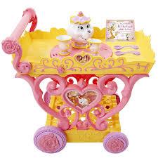 amazon com disney princess belle musical tea party cart toys u0026 games