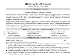 Sample Logistics Resume by 17 Best Operations Resume Templates U0026 Samples Images On Pinterest