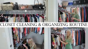 clean and organize my closet with me clean with me vlog style