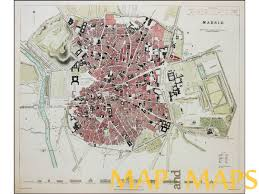 Madrid Spain Map by Spain Portugal Antique Map And Maps From The Past Mapandmaps Com