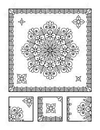 framed mandala coloring page for adults children ok too and