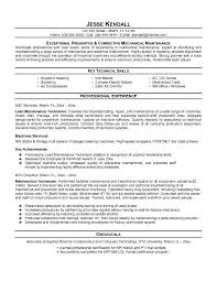 Oilfield Resume Objective Examples by Download Maintenance Manager Resume Haadyaooverbayresort Com