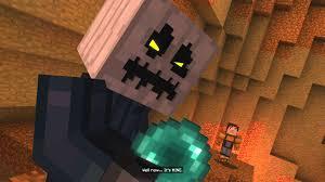 minecraft story mode battling the white pumpkin 29 youtube