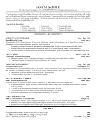 sample resume accounting for objective with professional profile