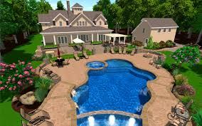 Design Your Own Outdoor Kitchen Bedroom Outstanding Design Your Backyard Pool Swimming Designs