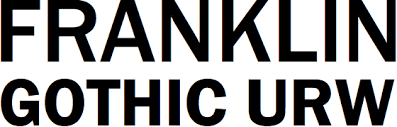 FONTS - Franklin Gothic