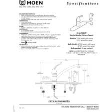 moen 7430 chateau chrome one handle with sidespray kitchen faucets