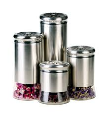 Glass Kitchen Canisters Airtight by Kitchen Best Glass Kitchen Canisters Served In Four Options In