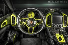 Porsche Cayenne Black - porsche cayenne s custom dark black interior concept fierce sporty