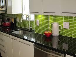Vintage Kitchen Backsplash Kitchen Style Chic Retro Style Kitchen Glossy Green Tile