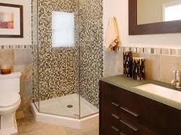 bathroom with corner shower featured mosaic tiles bathroom