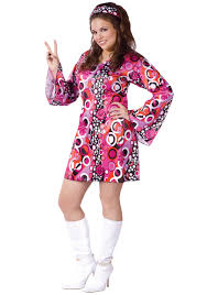 plus size feelin u0027 groovy dress hippie costume costumes and