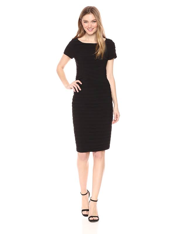 Adrianna Papell Dress Solid Black