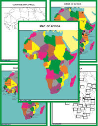 Map Of Mali Africa by Set Of 6 Montessori Geography Maps U2013 The Learning Ark