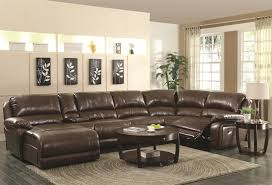 leather sectional sofa recliner reclining leather sectionals