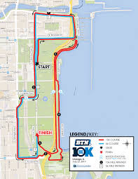 Chicago On The Map by Race Course Btn Big10k