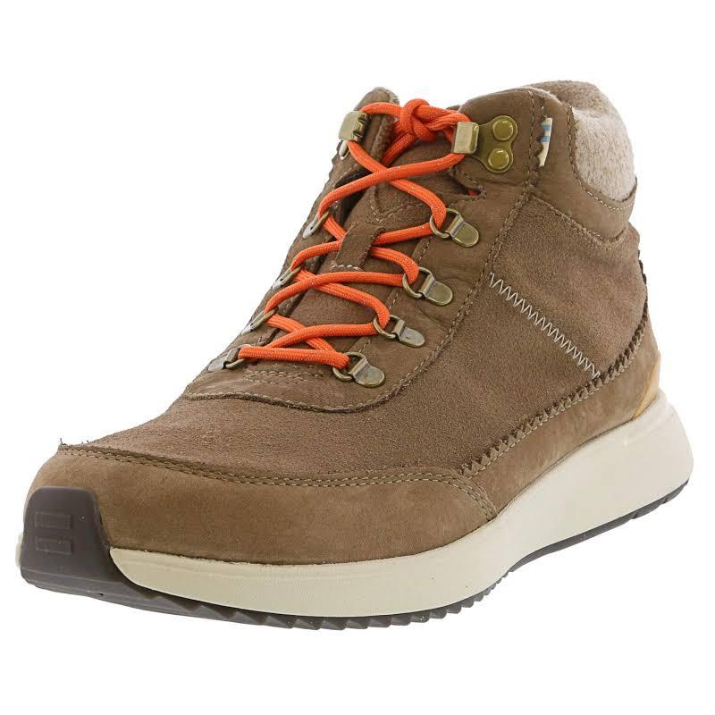 Toms Cascada Waterproof Nubuck Suede Taupe / Grey Ankle-High Sneaker 9M