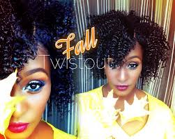 the perfect fall twist out on short medium length 4b natural hair