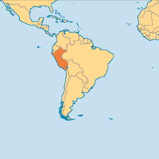 Map Of The South America by Peru Is Located In The South Western Part Of South America