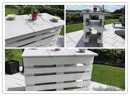 terasse en palette fabriquer un bar mobile de terrasse ou un mange debout